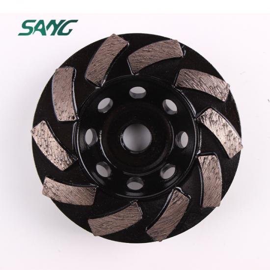 diamond cup wheel, single row diamond cup wheel, floor grinding tool, abrasive plate